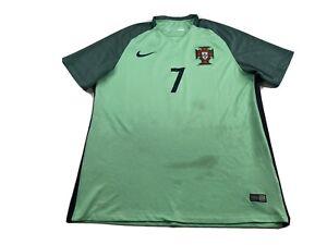 2016 Nike Cristiano Ronaldo #7 Portugal National Tw Soccer Jersey Size XL Green