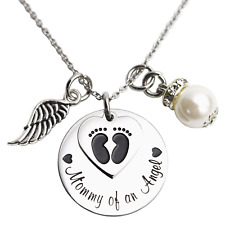 Mommy of an Angel Necklace Infant Child Loss Memorial Pregnancy Loss Miscarriage