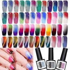 58 Colors LEMOOC Thermal Gel-lacke Gel Polish Glitter Farbwechsel UV Nagellack