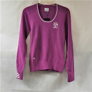 Adidas Womens S/P Purple Texas A and M Long Sleeve Golf Sweater New with Tags