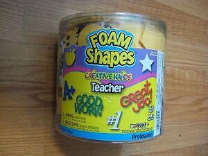 Foam Shapes Teacher Theme CREATIVE HANDS 6 oz tub