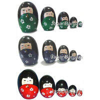JapanBargain Brand Matryoshka Kokeshi Nesting Doll Color Red Green Blue