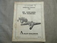 Allis Chalmers No 2200 Series Disc Harrows Operators Manual
