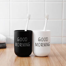 Good Morning Travel Bathroom Washing Toothbrush Cup Toothpaste Holder Round Home