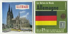 ALLEMAGNE Germany ViewMaster Packet C-470 with Flag Stamp and Coin of the Nation