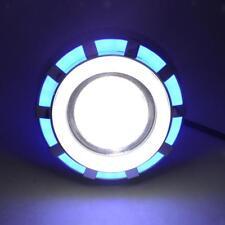 LED Faro Moto Abbagliante Anabbagliante Luce Marcia Per Harley Suzuki Blu