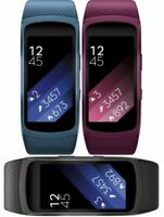 Samsung Gear Fit2 Fitness Band, Heart Monitor Smartwatch, R360-black, blue, pink