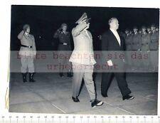 ORIGINAL PRESSEFOTO: 1963 Alfons GOPPEL & GENERALMAJOR Wilhelm HESS & REKRUTEN