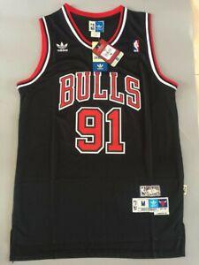 NWT Men's Dennis Rodman Chicago Bulls Throwback Swingman Jersey Black Size S-XXL