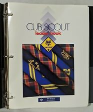 BSA Cub Scout Leader Book 1997 with Binder