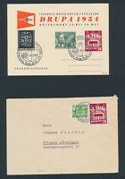 BERLIN 1953, Mi. 110-11 Brief, zehn Belege - davon 7 portorichtig!!