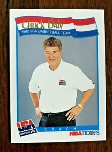 "Chuck Daly  1991-92 NBA Hoops #585 1992 ""Dream Team""  USA Coach  Detroit Pistons"