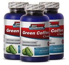 Pure Green Coffee - Green Coffee Cleanse 400mg - Enhance Metabolism Process 3B
