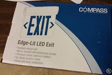 Compass CELS1GNE Edge Lit LED Exit Sign