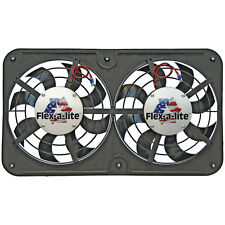 "Flex-a-lite 410 Fan Electric 12 1/8"" dual shrouded puller Lo-Profile S-blade w/"