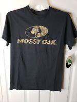 Mossy Oak Mens Graphic TShirt Short Sleeve Black /Camo Deer Hunting Fishing Med