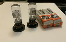Matched Pair GE 6SL7GT COIN BASE NOS NIB  TESTED