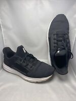 Mens Puma Lightweight Classic Black Lace Up Trainers Size 8.5 Free P&p