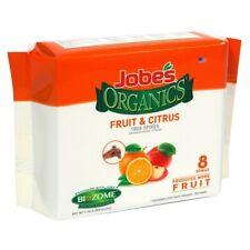 Jobes Organics 8 Spikes Fruit Citrus Tree Plant Organic Fertilizer Food Garden Y