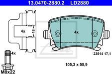Ceramic Bremsbelagsatz, Scheibenbremse Hinterachse ATE 13.0470-2880.2