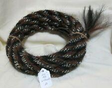 "Mane Horse Hair Mecate 22 feet long,  3/8"" dia.,  Pattern A"