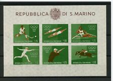 OLYMPIC GAMES 1960 ROME Stamps SAN MARINO IMPERFORATED MINIATURE SHEET #3 -ATZ