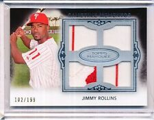 2011 TOPPS MARQUEE JIMMY ROLLINS RELIC 102/199