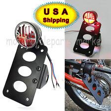 Stop License Plate Bracket Side Mounting Tail Brake Light Harley Chopper Bobber