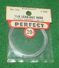 PERFECT 1/2A U/C CONTROL LINE MODEL AIRPLANE LEAD-OUT WIRE, #232,NEW IN RED PACK