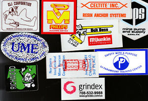 COAL   MINE STICKERS AS6