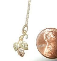 """10kt black hills gold necklace leaves pendant & 10k chain 17 1/2"""" beautiful!"""