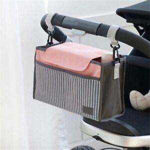 Infant Pram Cart Hanging Storage Bag Baby Trolley Bag Stroller Organizer Bag