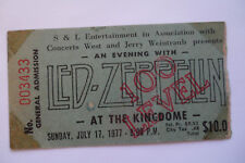 LED ZEPPELIN Original__1977__CONCERT TICKET STUB__Seattle