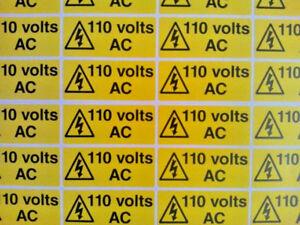 110v, 230v, 240v AC Voltage Electrical Safety Stickers