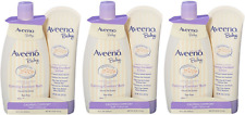 Aveeno Baby Calming Comfort Bath + Lotion Set, Baby Skin Care Products(3 Pack)