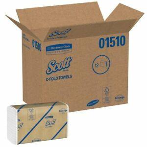 (2400/PK 12PK/CS) Paper Towel Scott C-Fold 10-1/8 X 13-3/20 Inch