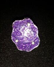 One Tibet Silver Enamel Crystal Adjustable Ring - Purple