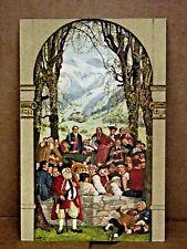 1918 Postcard BUNDESFEIER SOLDIERS FESTIVAL Switzerland Church Cross Men Boy