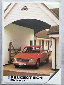 Peugeot 504 Pick up Brochure - October 1982