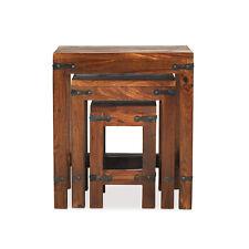 Jali Sheesham Nest of 3 Tables Solid Wood Living Room Indian Furniture