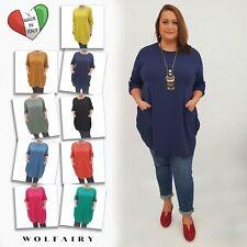 Wolfairy Womens Plus Size Top Tunic Lagenlook Baggy Autumn Kaftan Long Sleeve