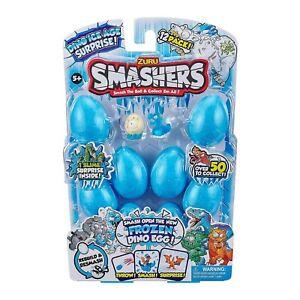 Zuru Smashers Frozen Dino Ice Age Surprise 8 Pack Eggs incl Mini Dino Figure