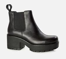 Vagabond Dioon Leather Elastic Chelsea Ankle Chunky Block Boots US5-10 (EU35-41)