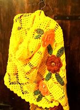 Scialle/stola/pashmina/fiori/uncinetto/fatto a mano/crochet/shawl/sciarpa/scarf