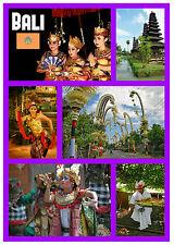 BALI, INDONESIA - RECUERDO ORIGINAL IMÁN DE NEVERA - MONUMENTOS / CIUDADES