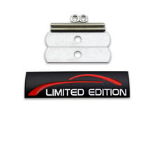 Black Limited Edition Logo Car Front Grille Emblem Metal Sport Turbo Grill Badge
