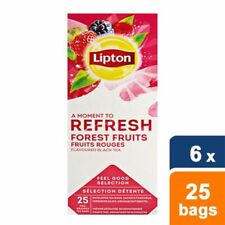 Lipton Forest Fruits 6 boxes Tea Bags from Lipton 150 Tea Bags