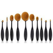 10pcs Makeup Brush Set Soft Oval Toothbrush Shaped Foundation Contour Brushes