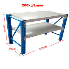 120x60x90cm Metal Steel Workbench Workshop Shelving Warehouse Stand Work Bench