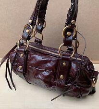 Francesco Biasia 100% Cowhide Leather Maroon Leather Shoulder Bag w Dust Bag